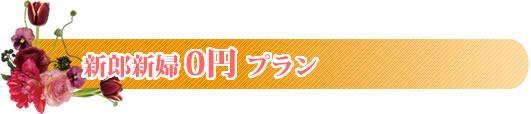 披露宴・1.5次会 新郎新婦0円プラン